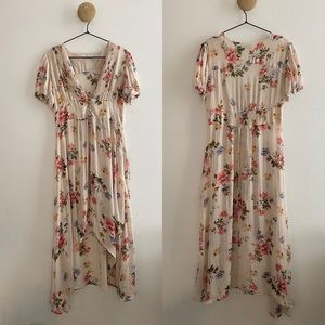 Zara Woman Long Floral Print Blouse